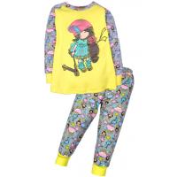 11-148229 Пижама для девочки, 1-4 года, желтый