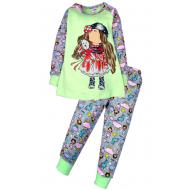 11-148231 Пижама для девочки, 1-4 года, салатовый