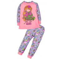 11-148233 Пижама для девочки, 1-4 года, малиновый