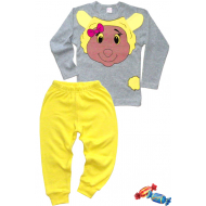 "11-148241 ""SWEET SHEEP"" Пижама, 1-4 года, серый\желтый"