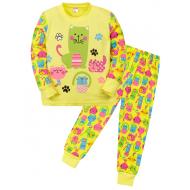 """11-148252 """"Cats"""" Пижама для девочки, 1-4 года, желтый"""