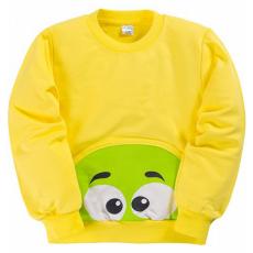 """11-251113 """"Bowling"""" Толстовка с карманом, 2-5 лет, желтый"""