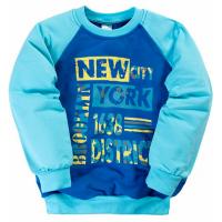 """11-251117 """"New York"""" Толстовка для мальчика, 2-5 лет, голубой"""
