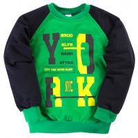 "11-251118 ""Brooklyn"" Толстовка для мальчика, 2-5 лет, зеленый"