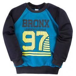 """11-251120 """"BRONX"""" Толстовка для мальчика, 2-5 лет, индиго"""