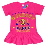 """11-25143 """"Dance"""" Туника, 2-5 лет, вишневый"""