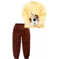 """11-258114 """"PUPPY"""" Пижама, 2-5 лет, желтый\коричневый"""