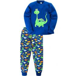 "11-258133 ""Little dinosaur""  Пижама, интерлок, 2-5 лет, синий"