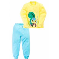 """11-258220 """"SQUIRREL"""" Пижама, 2-5 лет, желтый\бирюза"""