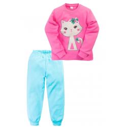 "11-258221 ""CAT"" Пижама, 2-5 лет, розовый\бирюза"