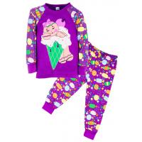 "11-258244 ""Cream purple"" Пижама, 2-5 лет, фиолетовый"