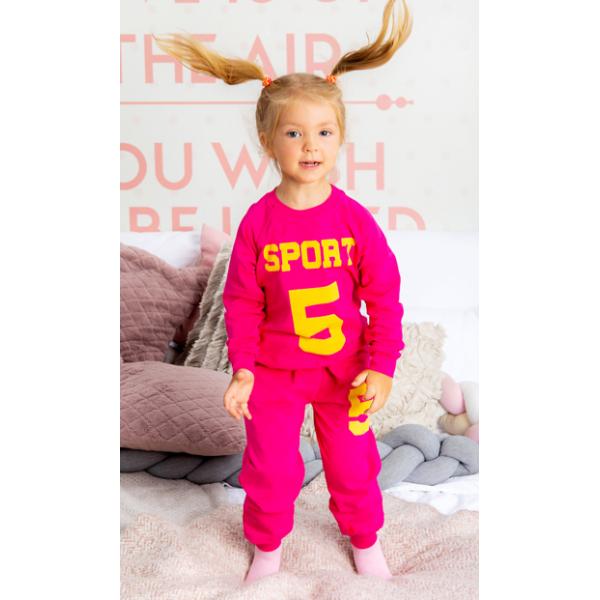 """11-258264 """"SPORT"""" Костюм для девочки, 2-5 лет, малиновый"""