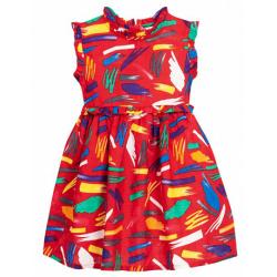 11-370185 Платье для девочки, муслин, 3-7 лет