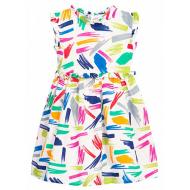 11-370186 Платье для девочки, муслин, 1-3 года