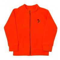 11-371272 Толстовка на молнии, флис, оранжевый