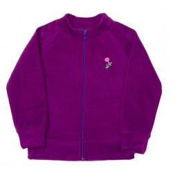11-371273 Толстовка на молнии, флис, фиолетовый
