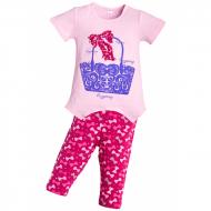"""11-373212 """"SHOPPING"""" комплект туника с бриджами, 3-7 лет, розовый"""