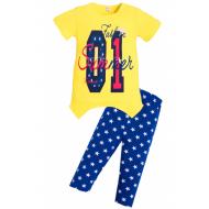 """11-37328 """"Fashion №1"""" комплект туника с бриджами, 3-7 лет, желтый"""