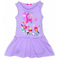 """11-37805 """"Птички"""" Платье для девочки, 3-7 лет, сиреневый"""
