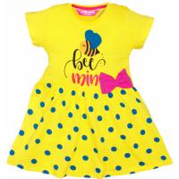 """11-37808 """"Bee mine"""" Платье с бантиком, 3-7 лет, желтый"""