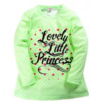 """11-37832 """"Lovely little"""" Сорочка для девочки, 3-7 лет, ментоловый"""