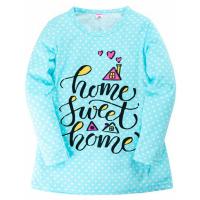 """11-37834 """"Home sweet"""" Сорочка для девочки, 3-7 лет, бирюзовый"""