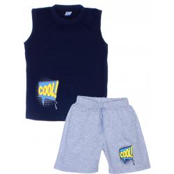"11-582103 ""Cool!"" комплект летний для мальчика, 5-8 лет, т-синий"
