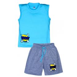 "11-582104 ""Boom!"" комплект летний для мальчика, 5-8 лет, бирюза"