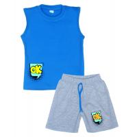 """11-582105 """"Ok!"""" комплект летний для мальчика, 5-8 лет, голубой"""