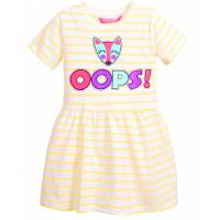 """11-58610 """"OOPS!"""" Платье в полоску, 5-8 лет, желтый"""