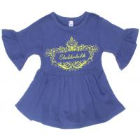 11-69133 Блузка, 6-9 лет, синяя ночь