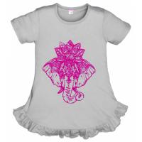 """11-69804 """"Elephant"""" Платье, 6-9 лет, серый"""