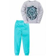 "11-698119 ""Brave lion"" Пижама, интерлок, 6-9 лет"