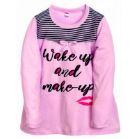 "11-812831 ""Wake up""  Сорочка для девочки, 8-12 лет, сиреневый"