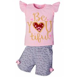 """5852-66 """"Be Tiful"""" комплект для девочек, 5-8 лет, розовый"""