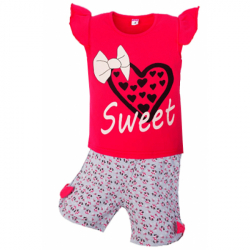 """5852-71 """"SWEET"""" комплект для девочек, 5-8 лет, красный"""