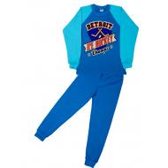 11-9128109 Комплект для мальчика, интерлок, 9-12 лет, синий\голубой